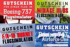 Flugsimulator Gutscheine
