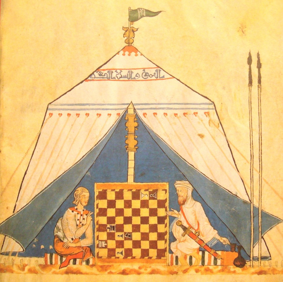 Christian and Muslim playing Chess 14th century