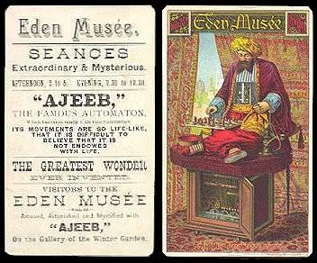 """Turk """"Ajeeb"""" publicity at Eden Museum New York"""