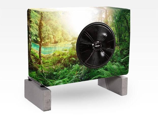 Luft-Wasser-Wärmepumpe Aussengerät von Solar hoch 2 - swiss made!