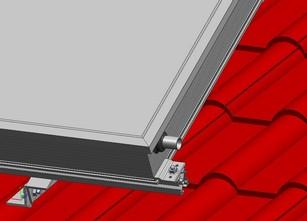 Befestigungssets für Flachkollektoren von Solar hoch 2