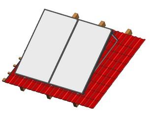 Befestigungssets für Flachkollektoren sunWin 27 von Solar hoch 2