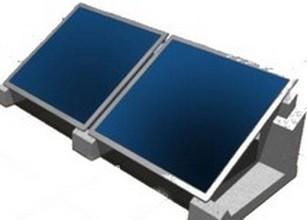 Montagesets für Kollektoren auf Flachdach sunWin 27 von Solar hoch 2