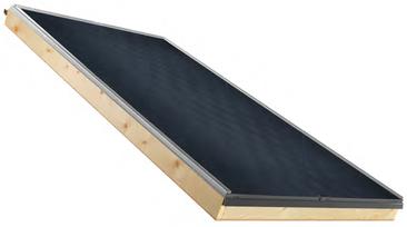 collettore con telaio in legno topSol di Solar hoch 2