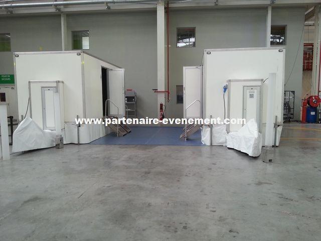 2 caravanes dans hangar