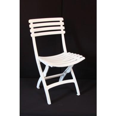 Chaise square Blanche
