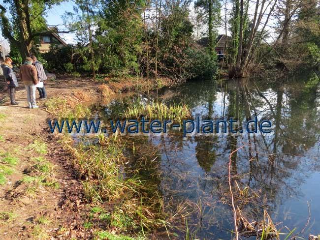 das Ufer ist abgebrochen und zu nah am Haus