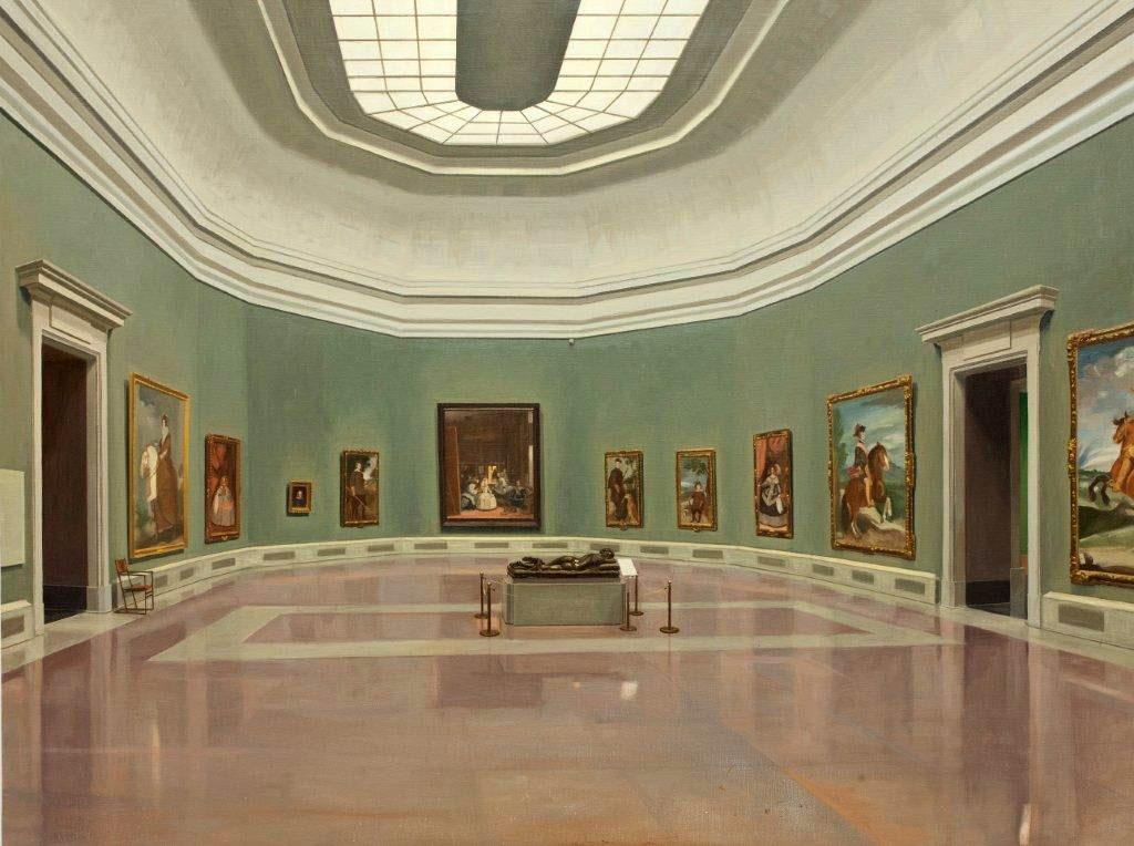 Vista de la sala de las Meninas del Museo del Prado. Óleo sobre lienzo, 97 x 130 cm.