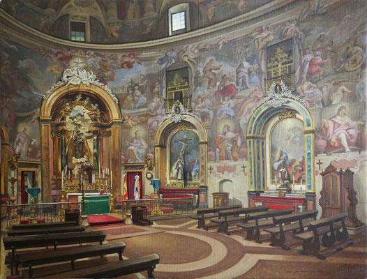 Vista del interior de San Antonio de los Alemanes. Óleo sobre lienzo, 65 x 81 cms.