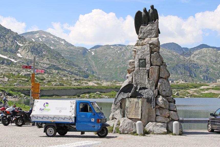 Die Drüradbrüedere sind auf dem St. Gotthard angekommen