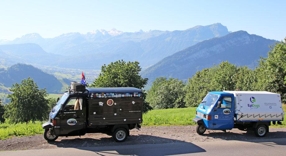 Die Drüradbrüedere oberhalb von Steinerberg SZ