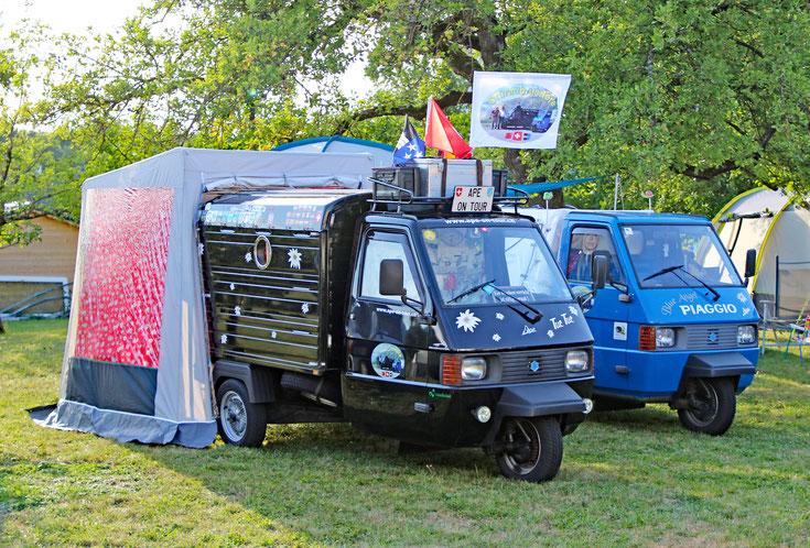 Die Drüradbrüedere auf dem am 13. Ape-Treffen in Bergfelden