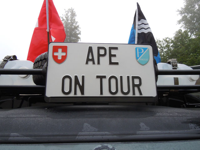 Ape on tour in Swiss