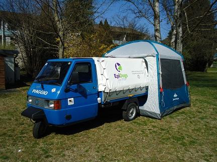 Zelt für die Piaggio TM mit Pritsche
