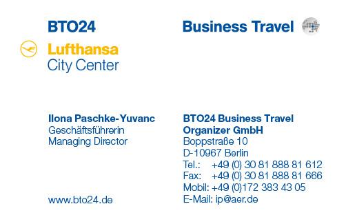 Visitenkarte Business Travel