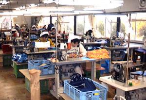 縫製作業風景