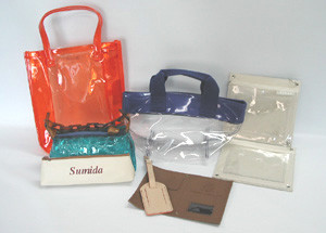 当社が得意とするウェルダー加工と縫製加工を要した複合加工の各製品