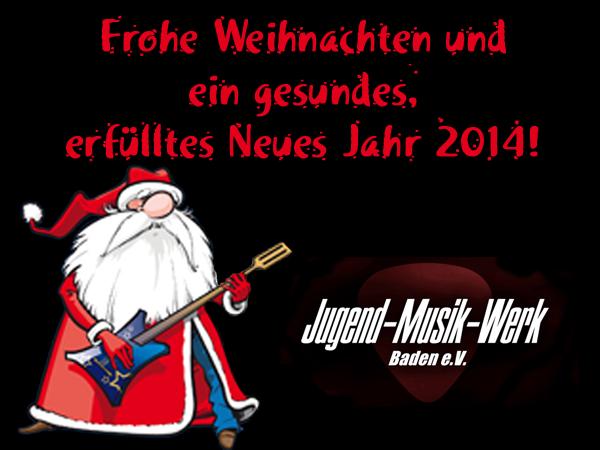 Frohe Weihnachten Musik.Frohe Weihnachten Und Einen Guten Rutsch Jugend Musik Werk Baden E V
