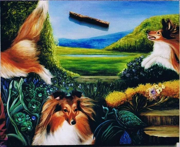 Night Fairy of Atocha, ein Gemälde von der Künstlerin Bruni Braun