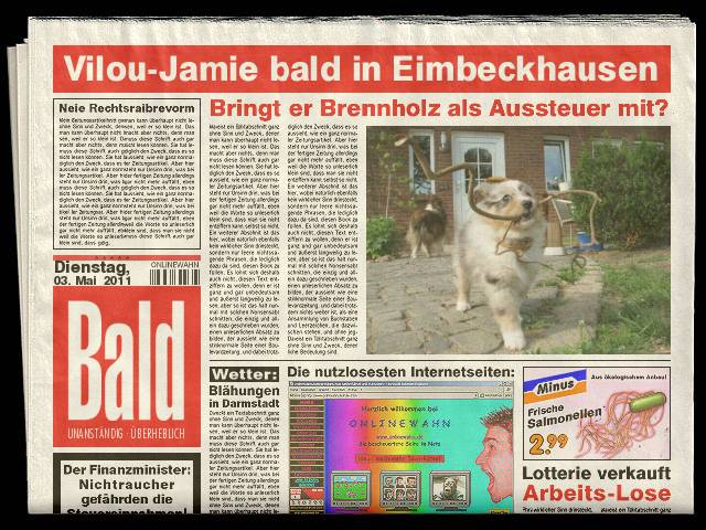 Vilou Jamie in der Tageszeitung?