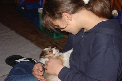 Milena mit Justin