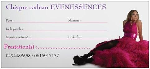chèque cadeau evenessences