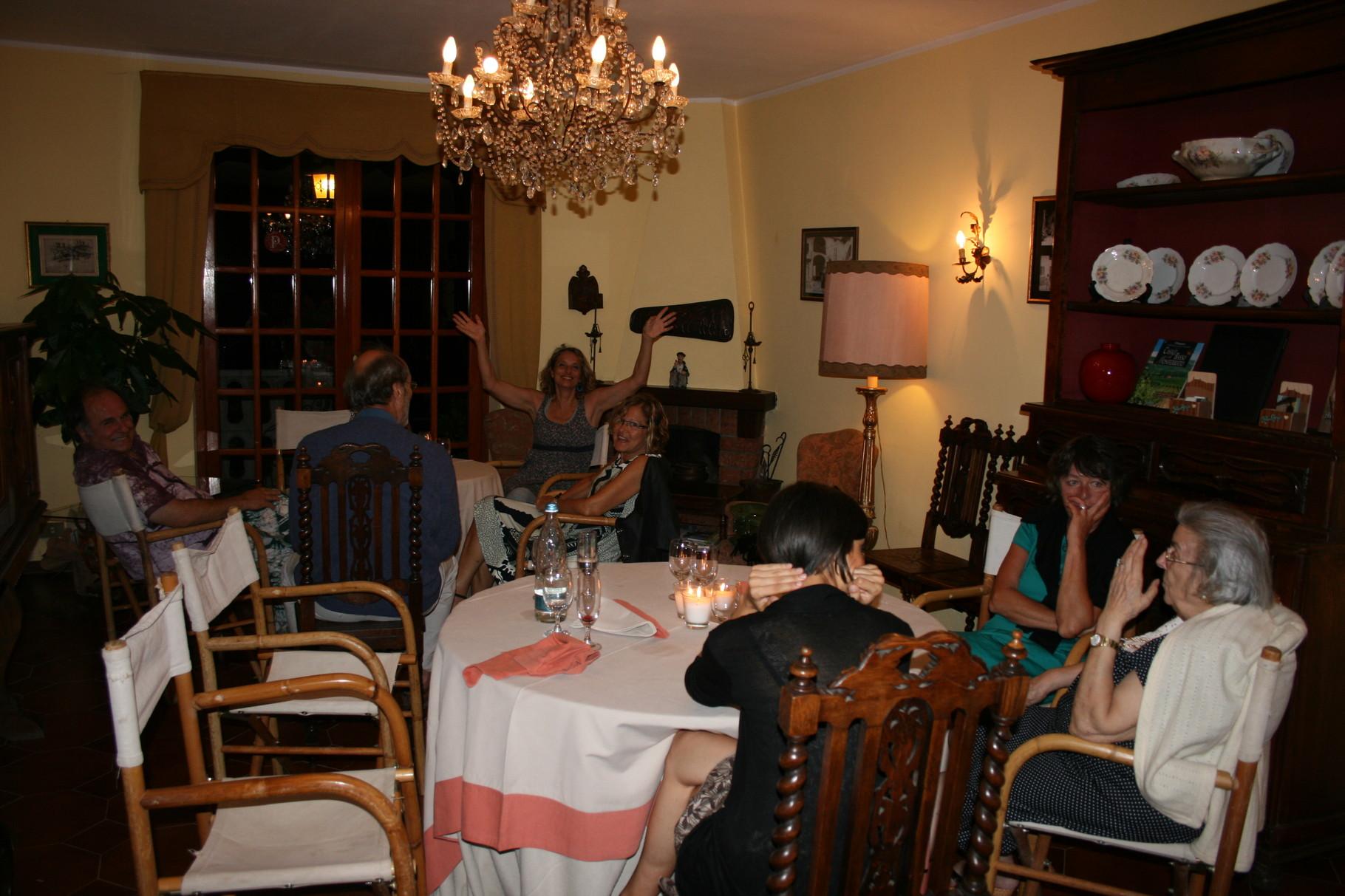Sala da pranzo in occasione di una festa
