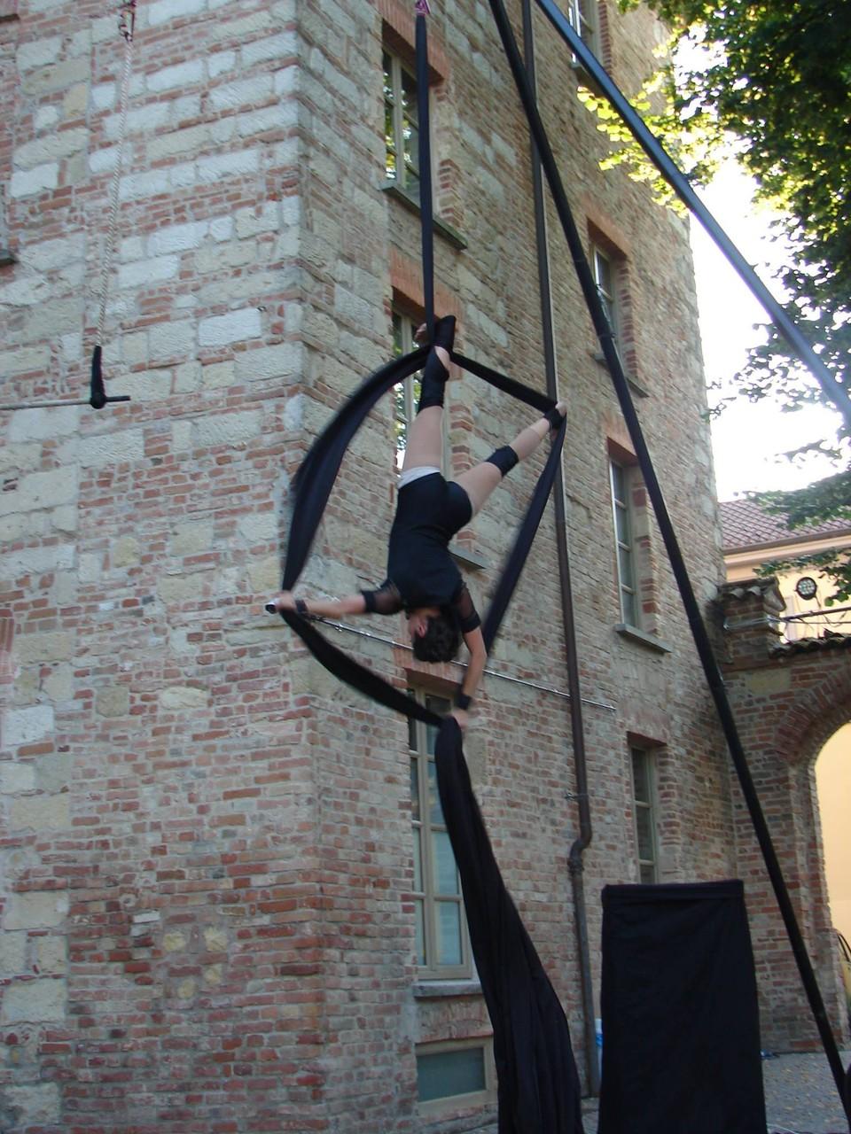 Acrobati durante il Vignalemonferrato Festival