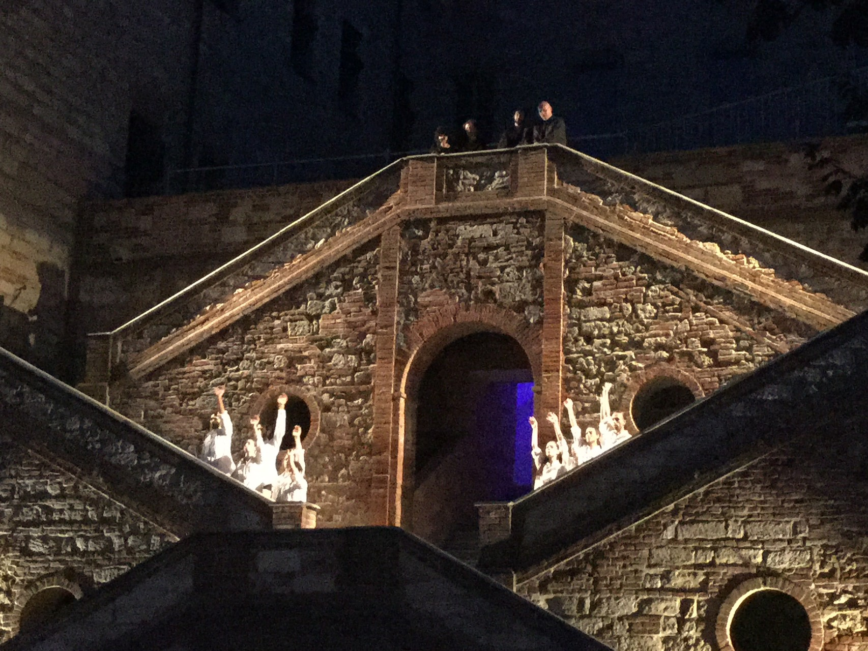 Scalinata del Palazzo Callori durante il Vignalemonferrato Festival