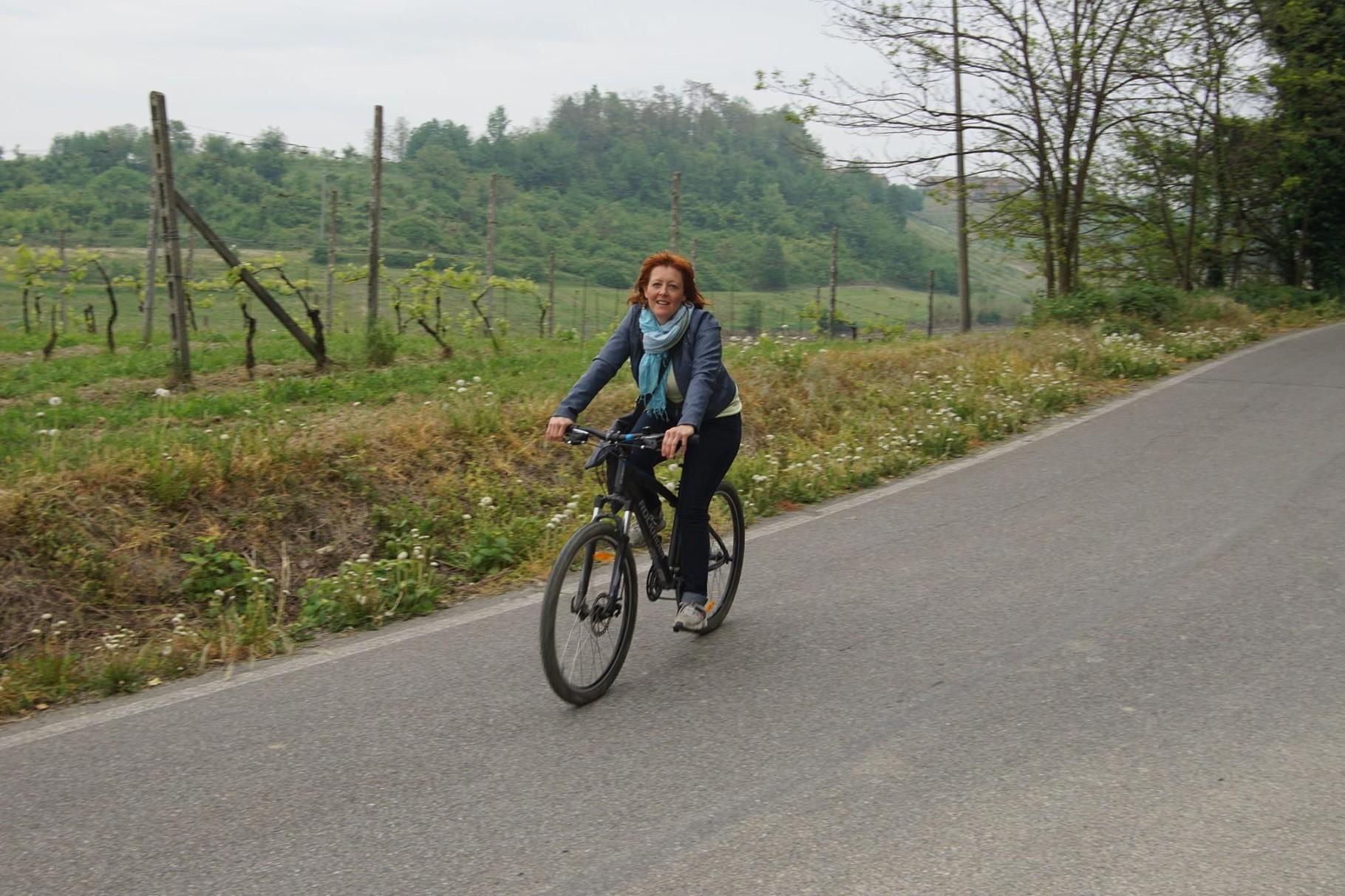 In bici sulle colline