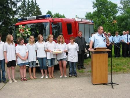 2009 10 Jahre Jugendfeuerwehr Haztenbühl und Übergabe des neuen Löschfahrzeuges MLF