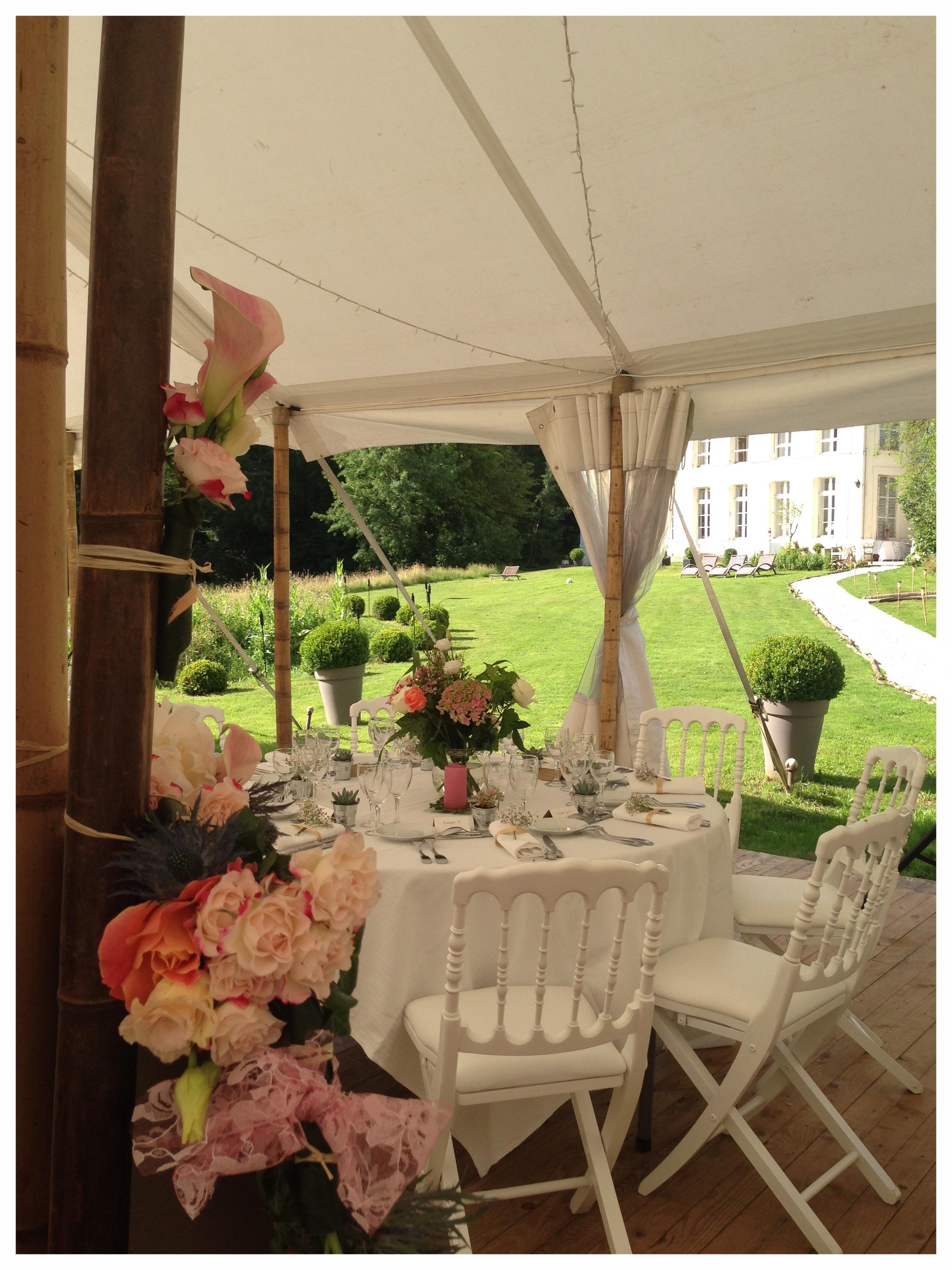 mariage au château proche de paris autour de paris île de france région parisienne salle pour mariage chpiteau bambou tente bambou mariage
