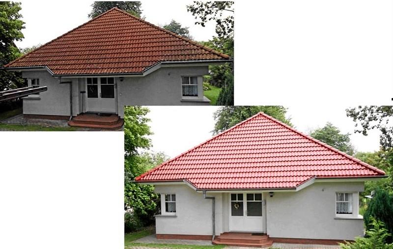 Dachbeschichtungen vorher - nachher