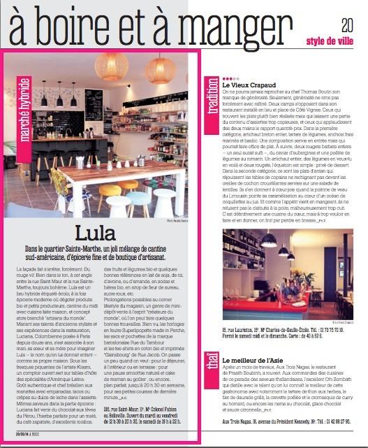 Article paru sur A NOUS PARIS 29/09/2014