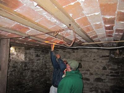 Plafond voûté de la cave