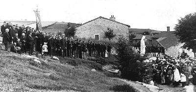 Inauguration de la Vierge en 1895