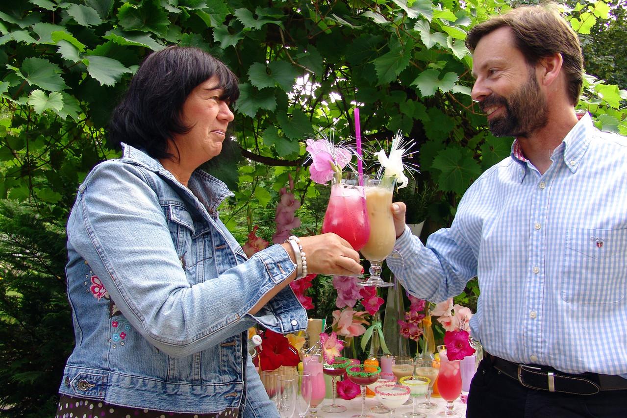 Cocktailparty im Garten