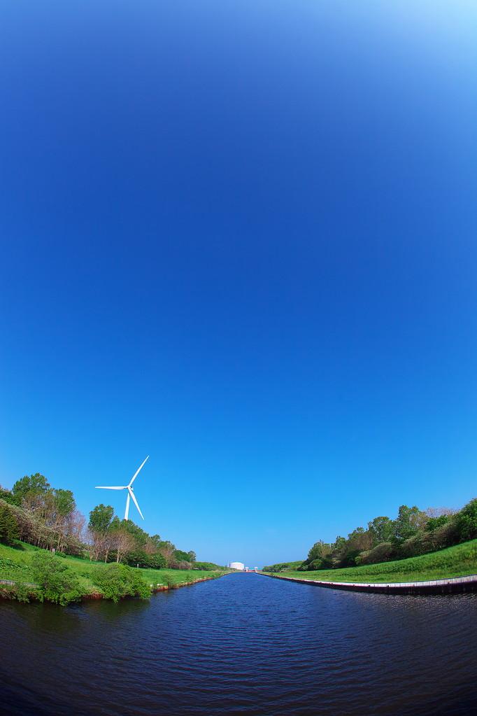 優秀賞 『風車のある風景』 佐々木郁太郎