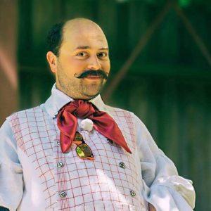 Patrick als französischer Meisterkoch Francois Horace Lumiere