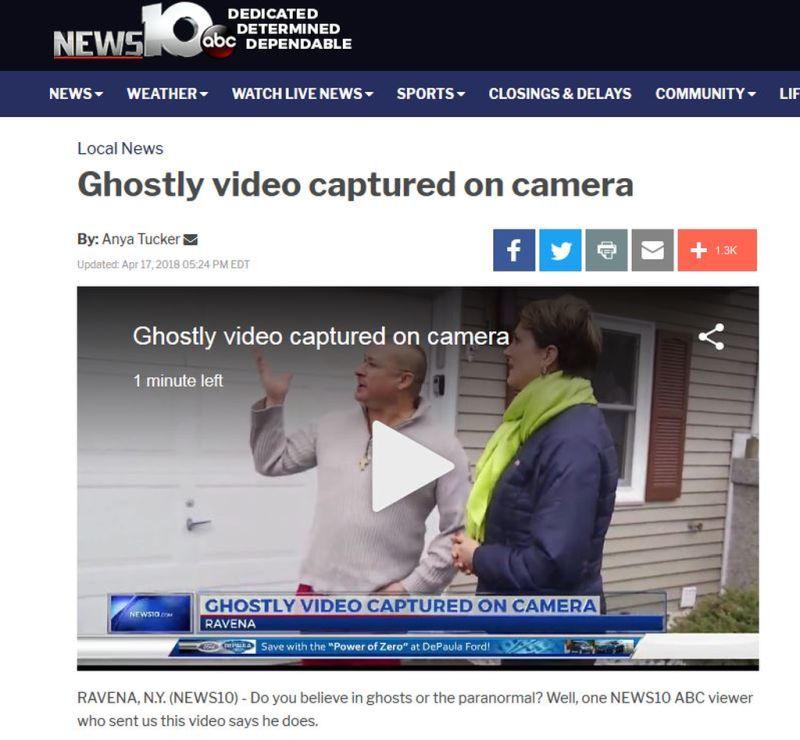 Im verlinkten Video ist der 'Geist' gut zu erkennen. #paranormal #ghost #ghosthunters