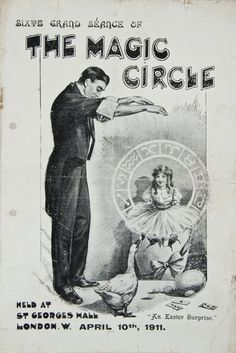 Werbeplakat für eine Séance.  Quelle: Wiki Commons. #medium #mediumismus #spiritismus #parapsychologie #paranormal