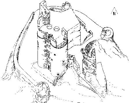 Skizze der Burg Neudahn