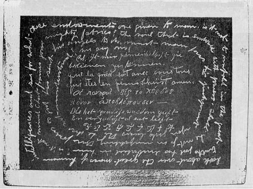 Noch eine Schiefertafel mit direkter Schrift, entstanden bei Prof. Zöllners Experimenten. #Slade #Medium #paranormal #ghosthunters