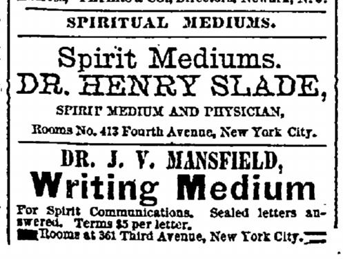 Ein weiteres Inserat von Henry Slade vom 09.Juni 1873.  #Slade #Medium #paranormal #ghosthunters