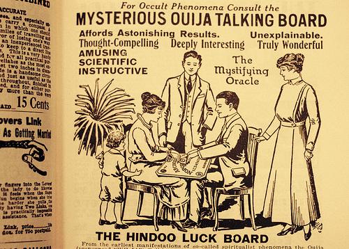 Zeitungsanzeige für das Ouija Board. #Ouija #Medium #Spiritismus #paranormal