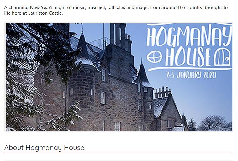 Ausschnitt aus der Promotion für das Event auf 'whatsoninedinburgh.co.uk' #LauristonCastle #ghost #ghosthunters #paranormal