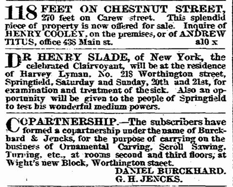 Eine Anzeige für Henry Slades Dienste, 19. April 1872. #Slade #Medium #paranormal #ghosthunters