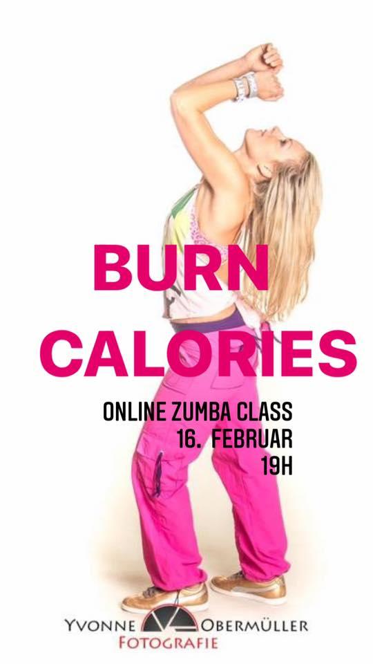Burn Calories Online ZUMBA Class