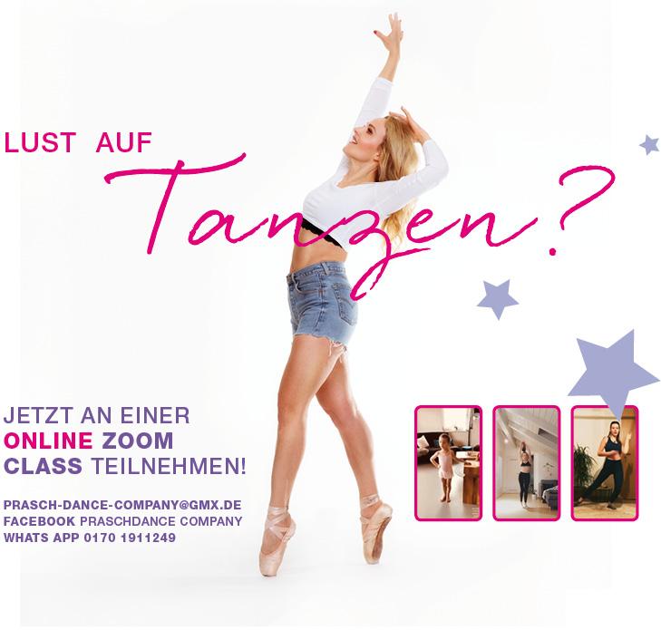 Lust auf Tanzen? Jetzt an einer Online Zoom Class teilnehmen!