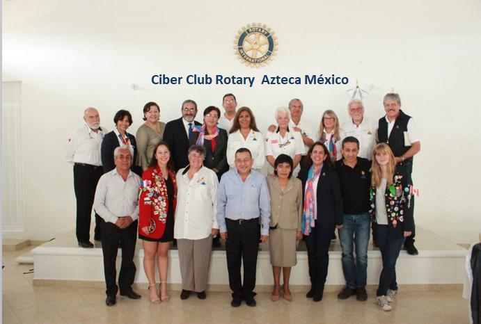 Foto oficial de la reunión de lCiber Club Rotary Azteca México en Zimapan Hidalgo.